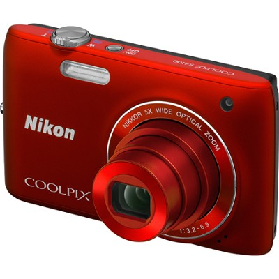 COOLPIX S4100 14MP Red Compact Digital Camera w/ 3-inch Touch Screen