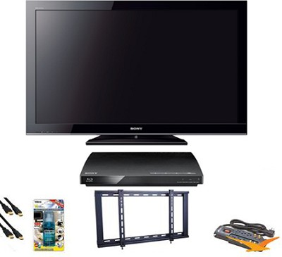 KDL40BX450 - 40` 1080p LCD HDTV Blu Ray Bundle