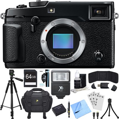 X-Pro 2 Mirrorless X-Trans CMOS III Black Digital Camera Accessory Bundle