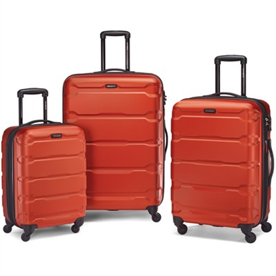 Omni Hardside Luggage Nested Spinner Set (20`/24`/28`) Burnt Orange (68311-1156)