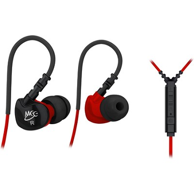 S6P Noise Isolating In-Ear Earphone w/ Microphone/Remote/Volume Control (Red)