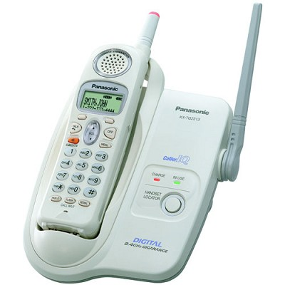 KX-TG2313W 2.4GHz Digital Cordless Phone With Light-Up Antenna