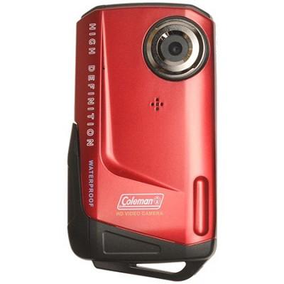 1080p HD 8MP 3X Zoom 2.0 Inch LCD Waterproof Pocket Video Camera - Red