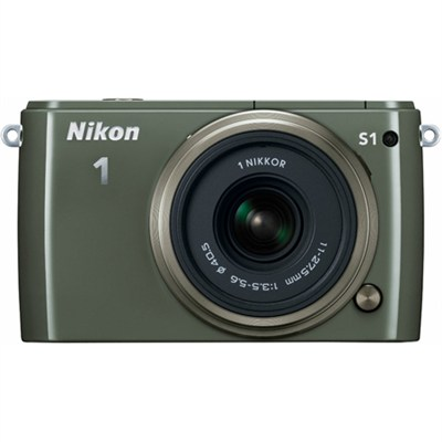 1 S1 10.1MP Khaki Digital Camera with 11-27.5mm Lens