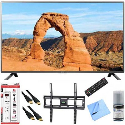 49LF5500 - 49-inch 1080p 60Hz LED HDTV Plus Mount & Hook-Up Bundle