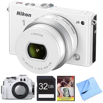 Nikon 1 J4 Camera w/10-30mm Lens & Underwater Case