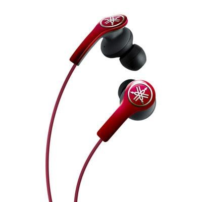 Earphones w Remote Control Red