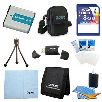 Fully Loaded Value 8GB Card and NB-9L Battery Kit for Canon Elph 510 HS & SD4500