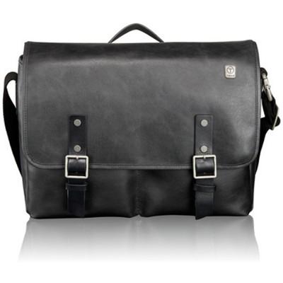 T-Tech Forge Bingham Leather Messenger 054170D- Black
