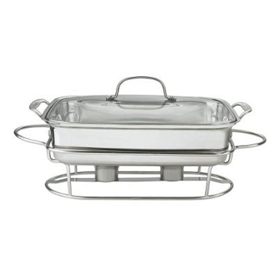 Classic Entertaining Collection 12 inch 5-Quart Stainless Rect Buffet Server