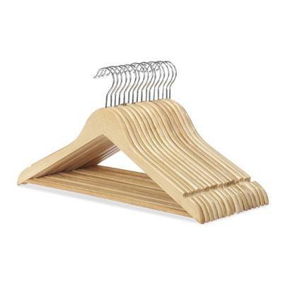 Wood Suit Hangers 16 Set