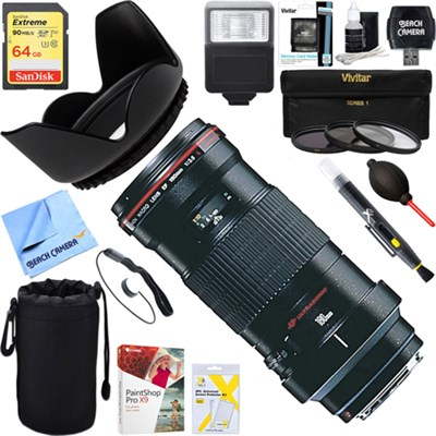 180mm f/3.5L Macro USM Lens 2539A007 + 64GB Ultimate Kit
