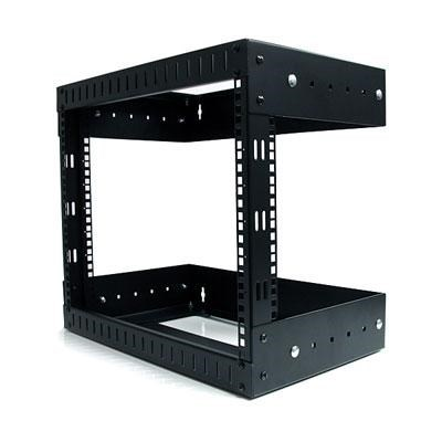 8U Open Frame Wall Mount Equipment Rack - RK812WALLOA