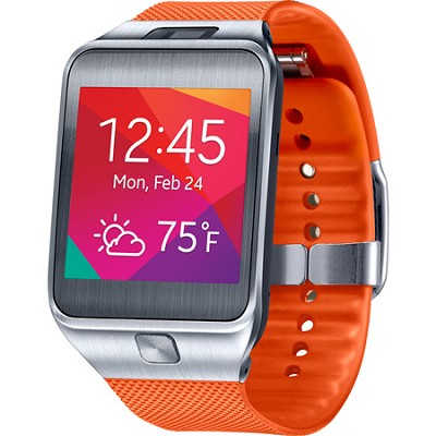 Gear 2 Dust and Water Resistant Orange Watch with Camera and Heart Rate Sensor