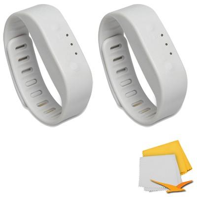Bluetooth Activity Tracker Sports Bracelet 2-Pack Bundle - Gray