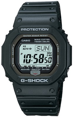 GW5600J1V - Black Digital Multi-Band 2 G-Shock Watch with Resin Band