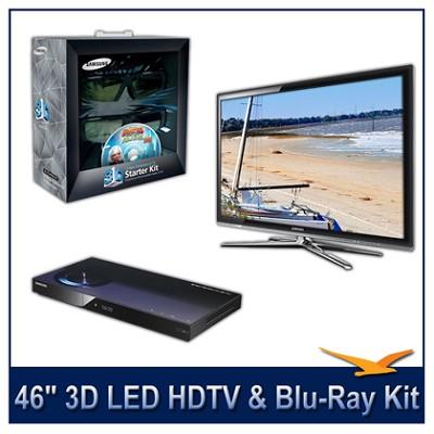UN46C7000 - 46` 3D 1080p 240Hz LED HDTV -- 3D Starter Kit + BluRay Player Bundle