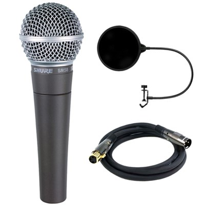 Cardioid Dynamic Vocal Microphone with Cable w/ Filter Bundle