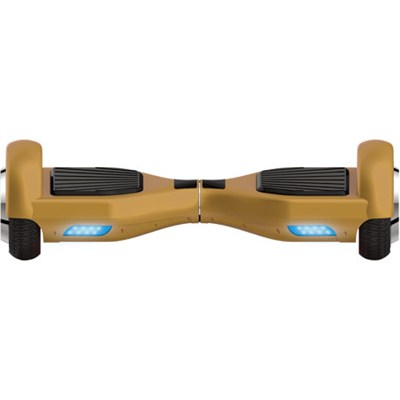 Balancing Horizontal Electric Scooter with Front LED Lights (Gold)