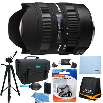 8-16mm f/4.5-5.6 DC HSM FLD AF Zoom Lens for Pentax DSLR Camera Lens Kit Bundle