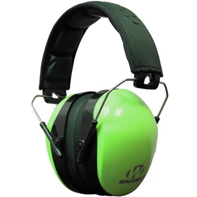 Dual Color Passive Ear Muff Hearing Protection - Hi-Vis Green