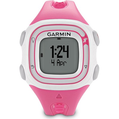 Forerunner 10 GPS Enabled Pink/White Running Watch w/ Virtual Pacer -REFURBISHED