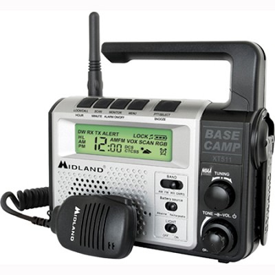 22-Channel FRS/GMRS Two-Way Emergency Crank Radio (XT511)