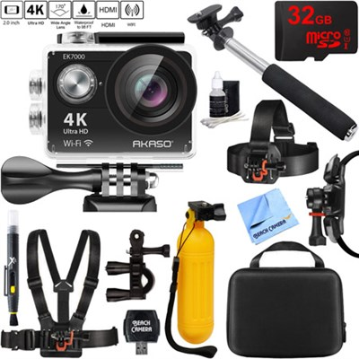 Ultra HD 4K 170 Degree Wide Sports Action Camera 32GB Outdoor Mount Kit
