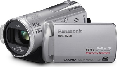 HDC-TM20S - Hi-definition 16GB flash memory / SD card Camcorder  (Silver)
