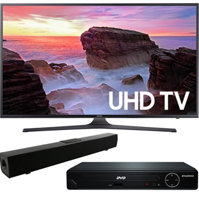 55` 4K Ultra HD Smart LED TV 2017 + HDMI DVD Player +Bluetooth Sound Bar