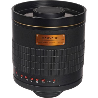 800mm F8.0 Mirror Lens - Black Body