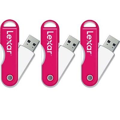 JumpDrive TwistTurn 16 GB High Speed USB Flash Drive (Pink) 3-Pack (48GB Total)