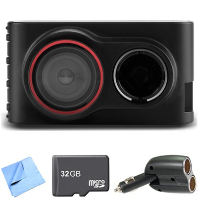 Dash Cam 30 Standalone HD Driving Recorder 32GB microSD Card Bundle