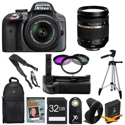 D3300 DSLR HD Grey Digital Camera Landscape Photographer Bundle