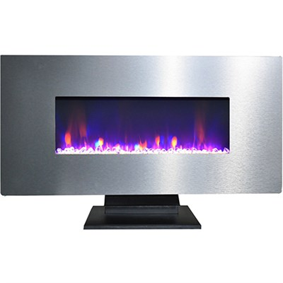 42  Wall Mount and Free Standing Electric Fireplace  w/ logs