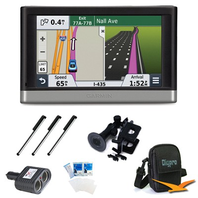nuvi 2497LMT 4.3` GPS with Lifetime Maps and Traffic Updates Ultimate Bundle