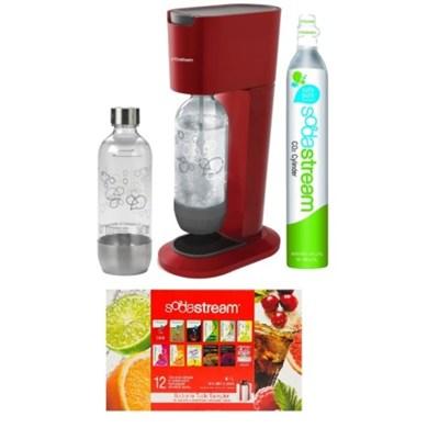 GENESIS Home Soda Maker Starter Kit - Red - OPEN BOX