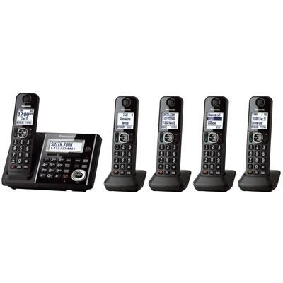 KXTGF345B Dect 5-Handset Landline Telephone
