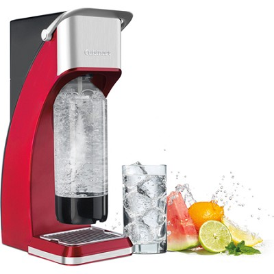 Sparkling Beverage Maker with 4-Ounce CO2 Cartridge - Red