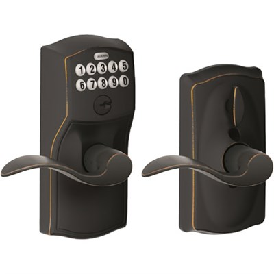 Keypad Lever , Camelot Trim, Bronze FE595 Cam 716 - OPEN BOX