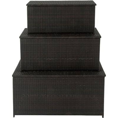 3 in 1 Deck Box Set for Outdoor Storage - HANDECKBOX-3