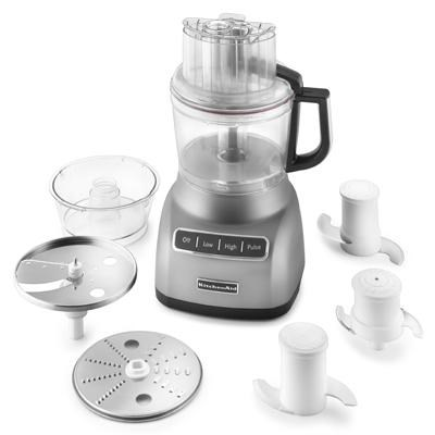 9-Cup Food Processor with Exact Slice System in Contour in Silver - KFP0922CU