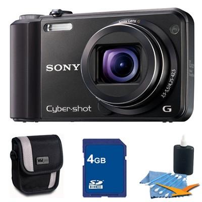 Cyber-shot DSC-H70 Black Digital Camera 4GB Bundle