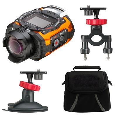 WG-M1 Compact Waterproof Action Digital Camera Action Pack - Orange