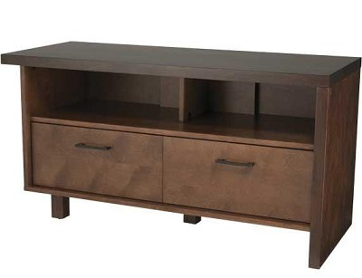BFV546 - Light and dark walnut finishes A/V Stand for TVs up to 50`