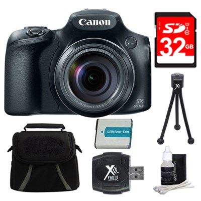PowerShot SX60 HS Digital Camera 32GB Bundle