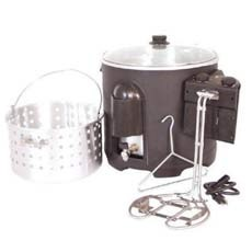 Electric Digital Turkey Fryer and Seafood Kettle