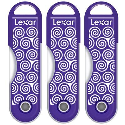 3 Pack of 32GB JumpDrive TwistTurn High Speed USB Drive Purple Swirls 96GB Total