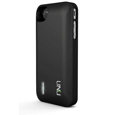 Exera Modular Detachable Battery Case for iPhone 4S 4 - Black/Black