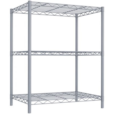 3 Tier Wire Shelving - Grey